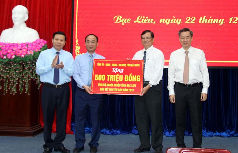 Đoàn công tác tỉnh Bắc Ninh làm việc tại Bạc Liêu
