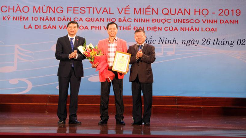 """Trao giải cuộc thi sáng tác ca khúc """"Bắc Ninh trên đường đổi mới và phát triển"""""""