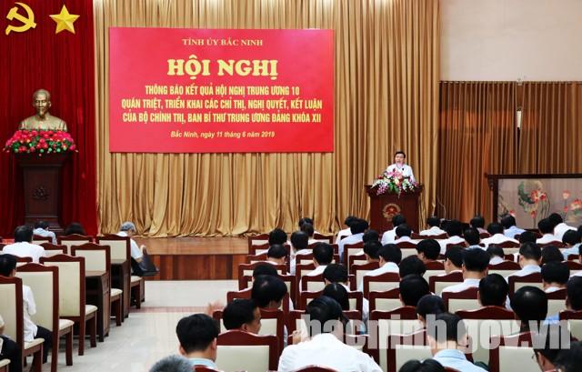 Tỉnh ủy thông báo kết quả Hội nghị  Trung ương 10 (khóa XII)