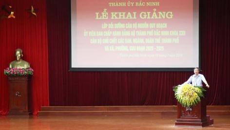 Thành ủy Bắc Ninh hoàn thành Lớp Bồi dưỡng cán bộ nguồn