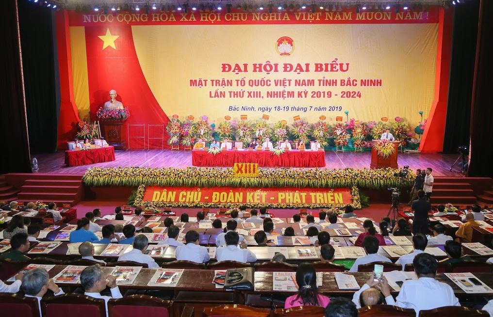 Đại hội đại biểu MTTQ Việt Nam tỉnh Bắc Ninh lần thứ XIII thành công tốt đẹp