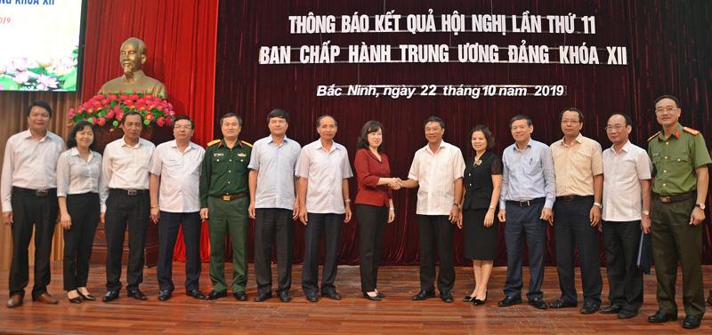 Tỉnh ủy Bắc Ninh tổ chức thông báo kết quả Hội nghị lần thứ 11 Ban Chấp hành Trung ương Đảng khóa XII