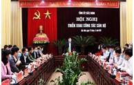 Ban Chấp hành Đảng bộ tỉnh tổ chức hội nghị triển khai công tác cán bộ