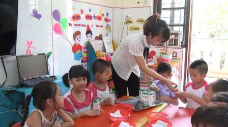 """Trên 210 nghìn lượt học sinh được thụ hưởng chương trình """"Sữa học đường"""""""