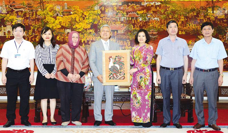 Chủ tịch UBND tỉnh Bắc Ninh tiếp Đại sứ Cộng hòa Indonesia tại Việt Nam
