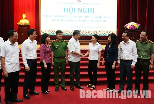 Bộ trưởng Tô Lâm tiếp xúc cử tri thành phố Bắc Ninh