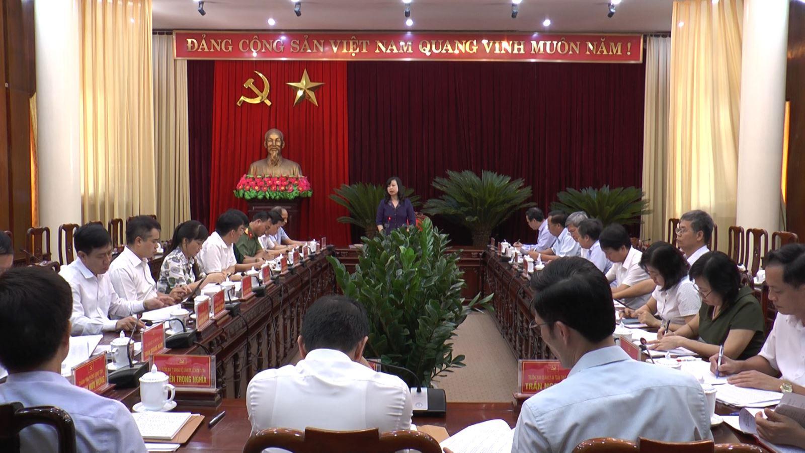 Rà soát công tác tổ chức phục vụ Đại hội Đảng bộ nhiệm kỳ 2020 - 2025