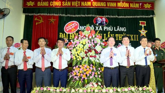 Đại hội Đảng bộ xã Đảng bộ xã Phù Lãng lần thứ XXII, nhiệm kỳ 2020-2025 thành công tốt đẹp