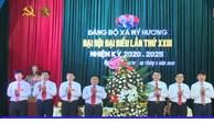 Đại hội đảng bộ xã Mỹ Hương lần thứ XXIII nhiệm kỳ 2020-2025 thành công tốt đẹp