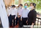 Kiểm tra công tác chuẩn bị bầu cử tại huyện Quế Võ
