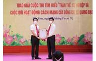 Thị xã Từ Sơn tổng kết Cuộc thi tìm hiểu về đồng chí Lê Quang Đạo