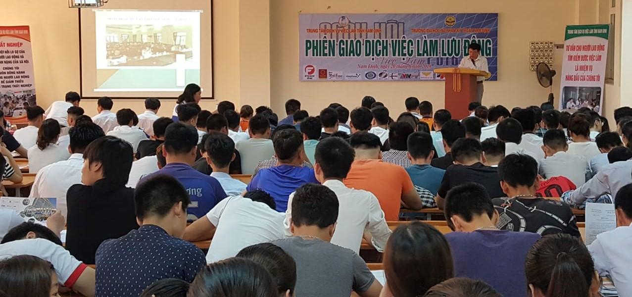 Nam Định đẩy mạnh công tác tư vấn, giải quyết việc làm cho người lao động
