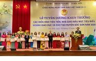 Sóc Sơn: Tuyên dương, khen thưởng nhà giáo mẫu mực tiêu biểu năm 2020