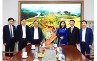 Lãnh đạo TP Hà Nội chúc mừng Học viện Chính trị quốc gia Hồ Chí Minh và Trường Đào tạo cán bộ Lê Hồng Phong