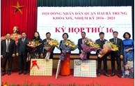 Quận Hai Bà Trưng bầu Chủ tịch HĐND và Chủ tịch UBND mới