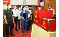 Kết hợp giữ vững an ninh cho ngày bầu cử, giám sát chặt chẽ công tác phòng, chống dịch