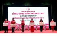 Hà Nội: Tiếp nhận trên 11 tỷ đồng ủng hộ Tháng Nhân đạo năm 2021