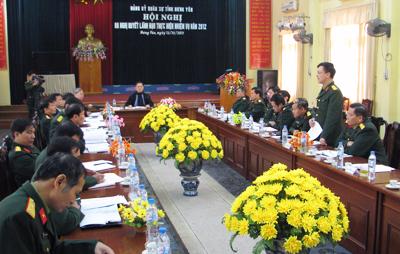 Đảng uỷ Quân sự tỉnh Hưng Yên: Ra nghị quyết lãnh đạo năm 2012