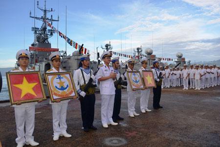 Bộ Tư lệnh Vùng 3 Hải quân: Lễ thượng cờ hai tàu pháo tuần tiễu hiện đại