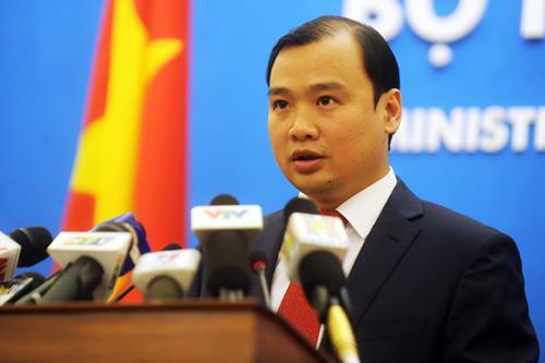 Yêu cầu Trung Quốc chấm dứt việc cải tạo phi pháp trên bãi Chữ Thập thuộc quần đảo Trường Sa