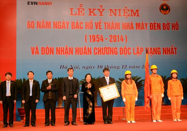 Tổng công ty Điện lực TP Hà Nội đón nhận Huân chương Độc lập hạng Nhất