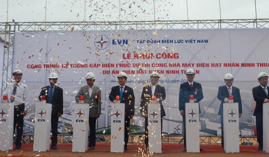 Khởi công xây dựng công trình hệ thống cấp điện phục vụ thi công Nhà máy Điện hạt nhân Ninh Thuận 1