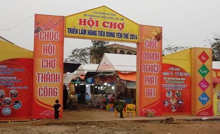 Hội chợ thương mại hàng tiêu dùng tại Yên Thế