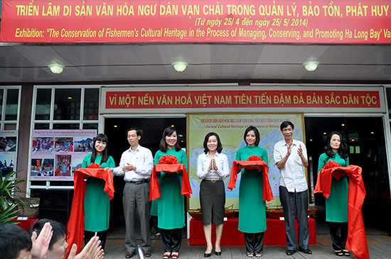 Cultural heritage exhibition of fishing village on Ha Long bay
