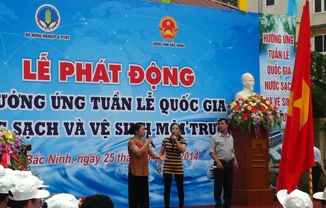 Hưởng ứng Tuần lễ Quốc gia nước sạch và VSMTNT 2014
