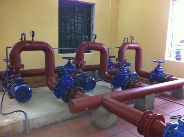 Xây dựng nhiều công trình cấp nước sạch liên xã