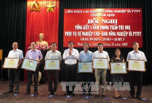 Nam Định: Thi đua vì sự nghiệp công nghiệp hóa, hiện đại hóa nông nghiệp và phát triển nông thôn