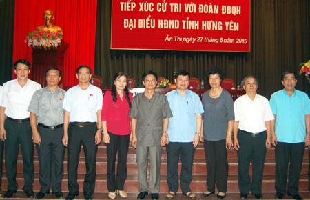 Hưng Yên: Đại biểu Quốc hội và đại biểu HĐND tỉnh tiếp xúc cử tri