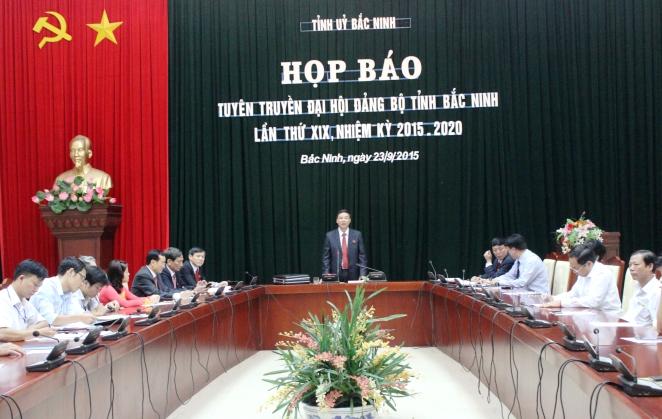 Đại hội đại biểu Đảng bộ tỉnh Bắc Ninh lần thứ XIX khai mạc ngày 24/9/2015