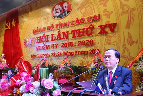 Khai mạc Đại hội đại biểu Đảng bộ tỉnh Lào Cai lần thứ XV