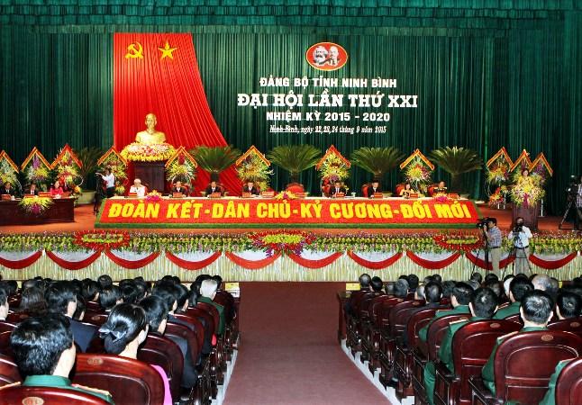 Bế mạc Đại hội Đại biểu tỉnh Ninh Bình lần thứ XXI